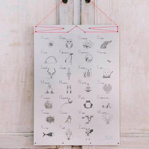 ABC ZOO de nimú. Póster abecedario con ilustraciones de animales
